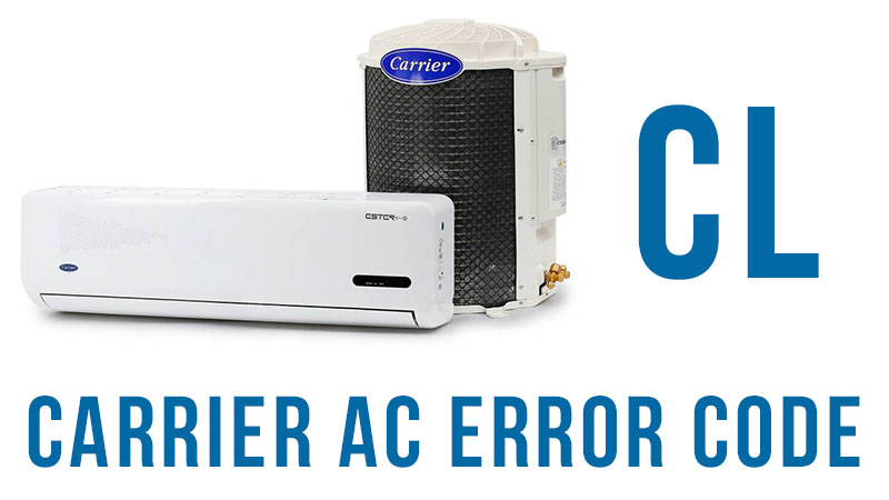 Carrier ac error code cl
